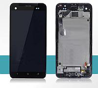 Дисплей (LCD) HTC X920e Butterfly с сенсором черный