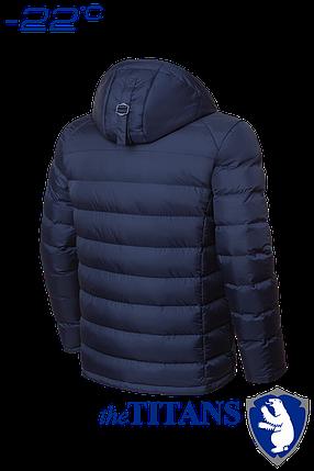 Мужская темно-синяя зимняя куртка большого размера (р. 56-62) арт. 3886, фото 2