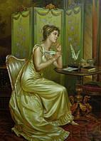 """Картина ручная работа масло. Копия картины Витторио Реггианини """"Ответ"""". Масло, холст"""
