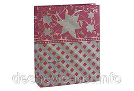 Пакет картонный ( 26х32х9см с фольгой)