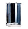 Душевая кабина на мелком поддоне 945*945*2020 мм, стекло серое, правая APPOLLO (TS-0515III R)