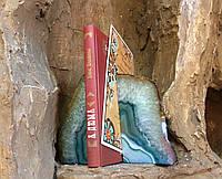 Подставка агатовая, держатель для книг. Цвет бирюзовый.