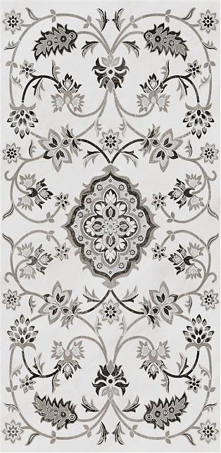 Керамогранит Kerama Marazzi 40Х80Х11 Парнас Серый Декорированный Лаппатированный (Sg810302R)