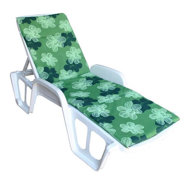 Матрас для лежака Sun 188х58х2 цветы зеленые
