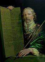 """Копия картины Филиппа де Шампаня """"Моисей и десять заповедей"""" Холст, масло"""