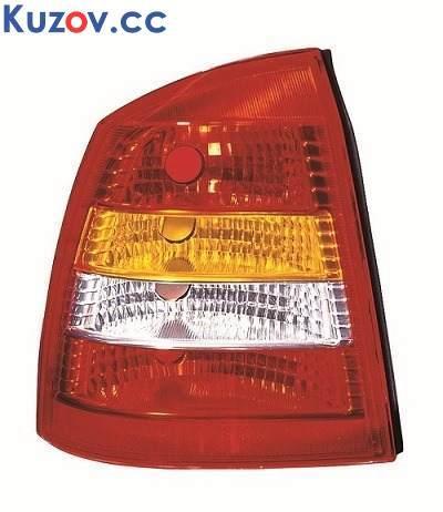 Фонарь задний Opel Astra G седан 98-09 правый (MM) красно-белый