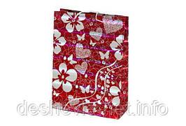 Пакет картонный (27,5х37х10см с фольгой)
