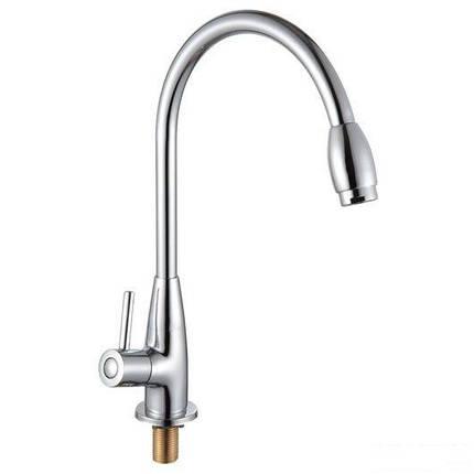 Смеситель для кухни на гайке на одну воду, хром 25мм ROZZY JENORI RAINBOW (RBZ333-9MN), фото 2