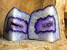 Підставка агатове, декоративна. Колір фіолетовий.
