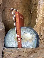 Подставка для книг, агатовая жеода, держатель для книг и журналов.