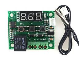 Терморегулятор с LED-индикатором и выносным датчиком W1209 питание 12V