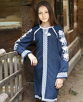 Вишите плаття для дівчинки на довгий рукав, фото 1