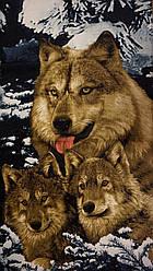 Пляжний рушник Вовки 3