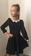 Школьное платье с шифоновыми рукавами и шикарным кружевом для девочки, разные расцветки и размеры