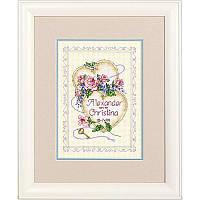Набор для вышивания Dimensions 06730 United Hearts Wedding Record Cross Stitch Kit
