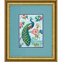 Набор для вышивания Dimensions 70-65146 Blue Peacock Cross Stitch Kit