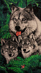 Пляжний рушник Вовки 4