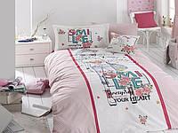 """Подростковое постельное белье """"First choice"""" Smile DE LUXE ранфорс 160х220"""