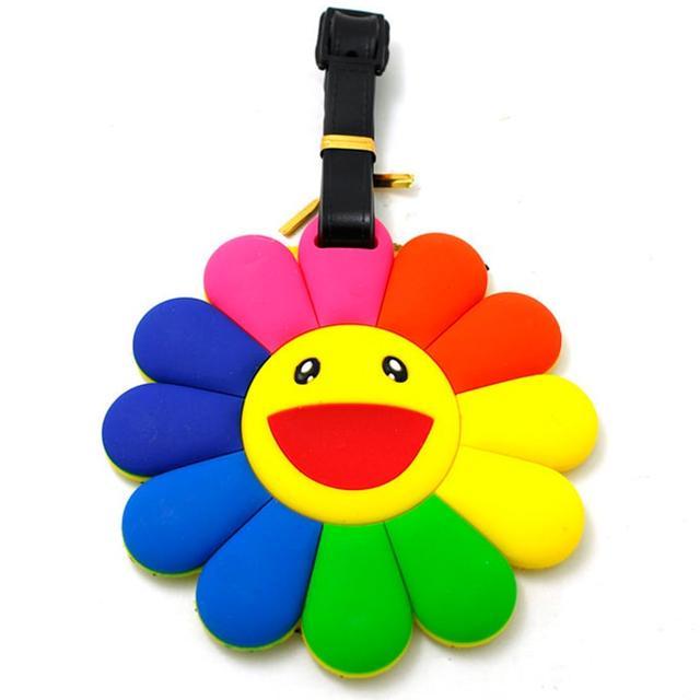 Бирка багажная Цветочек