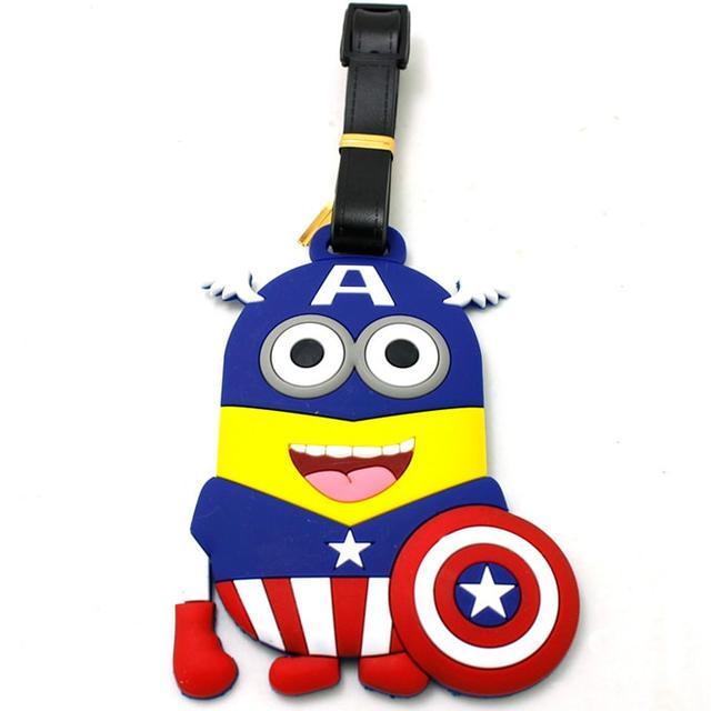 "Брелок на багаж Миньен ""Капитан Америка"""