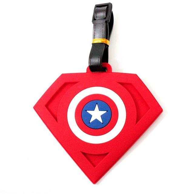 Бирка на багаж Щит Капитана Америка