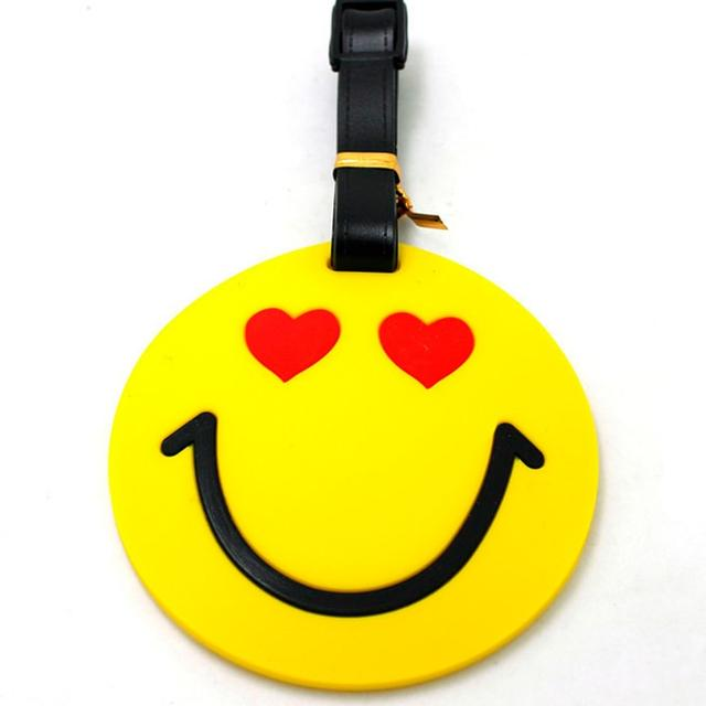 Бирка для багажа Smile с сердечками