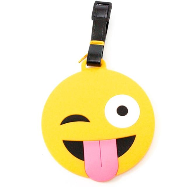Бирка на чемодан Smile с языком