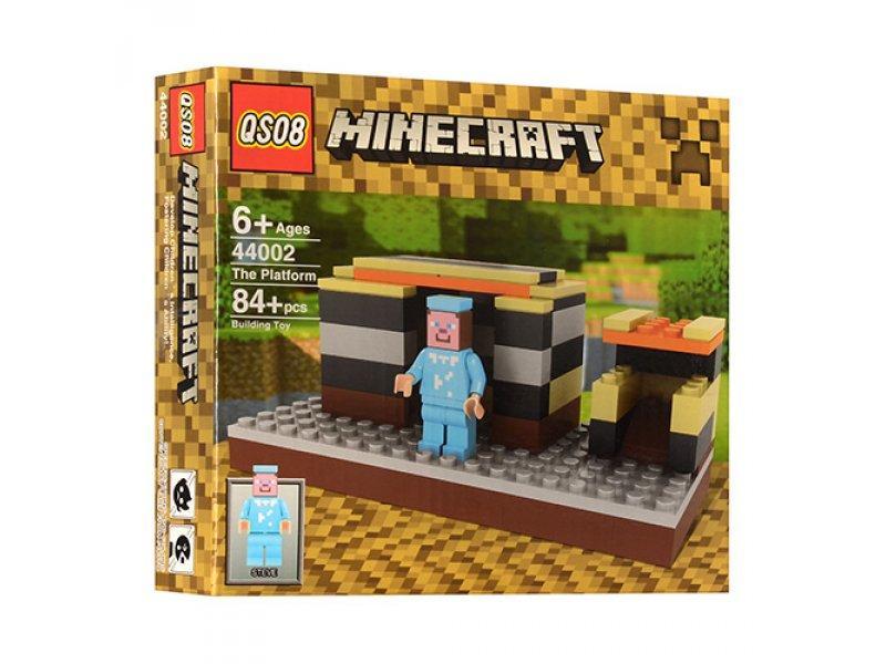 Конструктор QS08 серия Minecraft / Майнкрафт 44002 Платформа  (аналог Lego Minecraft)