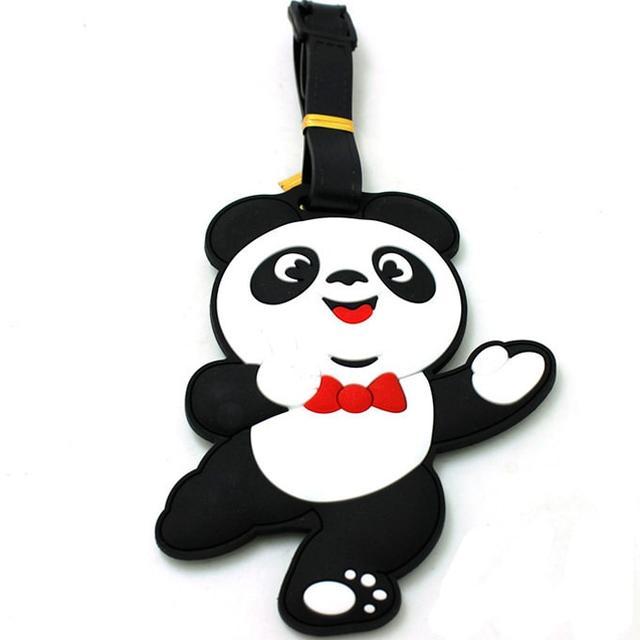 Бирка на рюкзак Танцующая панда