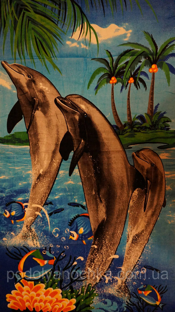 Пляжний рушник Дельфіни 4