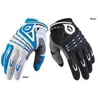 Перчатки 661 DESCEND GLV WHITE/BLUE длинный палец  S 2009