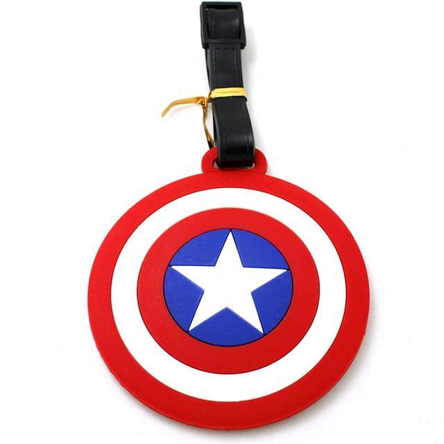 Бирка на рюкзак знак Капитана Америка