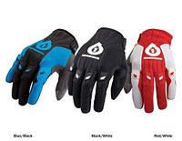 Перчатки 661 COMP GLOVE  длинный палец WHITE/RED S 2010