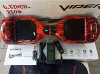 Гироскутер Гироборд VIPER SUPER PLUS на 6.5 IPP дюймов цвет FIRE само баланс Блютуз Сумка Led