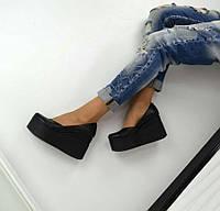 Красивые туфли на платформе натуральная кожа