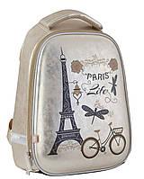Рюкзак 1 Вересня YES H-24 Paris 553554 каркасный молодежный один отдел 38см х 27см х 12см