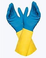 Перчатки неопреновые,  химстойкие «Duo-Mix» 405 (К50, Щ50), фото 1