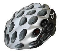 Велошлем Catlike WHISPER PLUS BLANCO CARBONO PLATA, фото 1