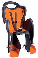 Кресло детское велосипедное Bellelli MR FOX Clamp (серый с оранж) крепится на багажник