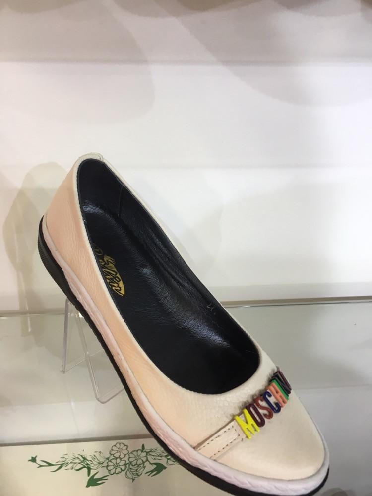 6cfc1023a9da Модные стильные молодежные женские балетки Moschino , натуральная кожа - Интернет  магазин