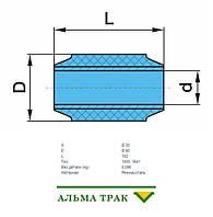 Сайлентблок 30x60x102 (резина / металл)