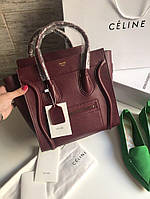Брендовая женская сумка Celine Nano натуральная кожа