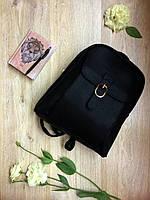 Женский рюкзак черного цвета, модель лето 2017