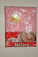 Полотенце уголок детское махровое Турция розовое Уточка.