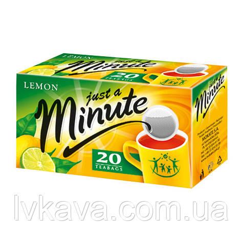 Чай черный just a Minute c лимоном, 20 пак, фото 2