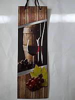 Пакет подарочный бумажный бутылка 12х36х9 (25-028)