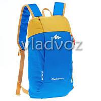 Городской, спортивный рюкзак Arpenaz 10L синий с оранжевым