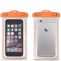 Водонепроницаемый чехол для смартфонов до 5,5 '' оранжевый