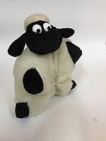 Баранчик игрушка-подушка из овечьей шерсти