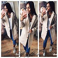 Женское кашемировое пальто бежевое 42,44,46